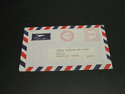 Bangladesh 1985 meter airmail cover to USA tear *3731