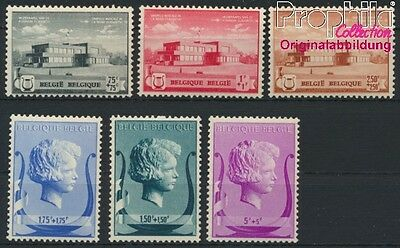 Belgium 529-534 unmounted mint / never hinged 1940 music foundation (8985361