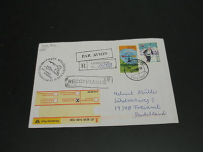 Moldova 2003 registered cover to Germany *2459