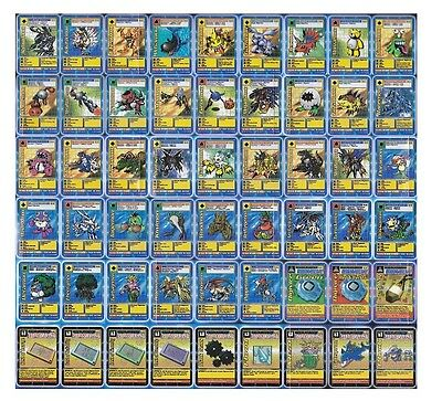 Mint Toei Digimon Digi-Battle Card Lot - Booster Series 2 - Complete 54 Card Set