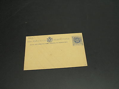 Portugal India old mint postal card stains *3723