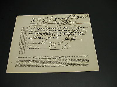Sweden 1860 postal document? Fold *20731