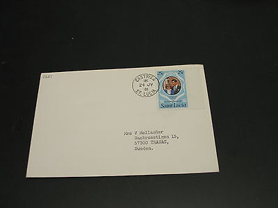 St Lucia 1981 cover to Sweden *2681