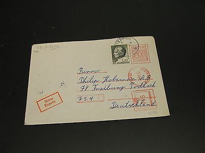 Yugoslavia 1972 expres meter stationery cover to Germany *2433