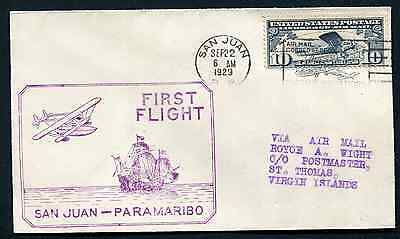 VIRGIN ISLANDS (13708): Lindbergh/FFC to St. Thomas cover