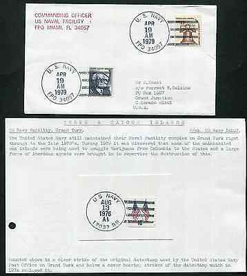 TURKS & CAICOS (13918): U.S. NAVY cancel/cover