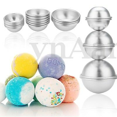 8 Set 16 Pieces DIY Mold Sphere Metal Bath Bomb Fizzy Crafting Cake Candle Mould