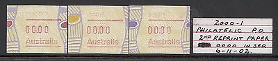 1999 Tiwi Frama Variety: 00.00 value.Postcode:2000 MNH/MUH x 3 different stages.
