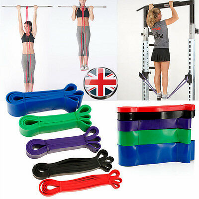 5-175 LBS Resistance Band Loop Exercise Crossfit Strength Training Gym Fitness