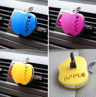 Apple Shape Perfume Car Air Freshener Fragrance Air Conditioning Vent Outlet