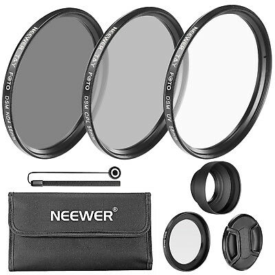 58mm Camera Lens Filter Kit UV CPL ND4 for Canon PowerShot SX60 HS and SX530 HS