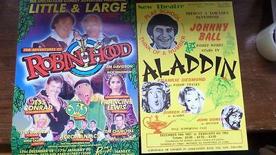 5 x Pantomime Posters Lot R18 Cribbins Langford Little & Large Ball Collier
