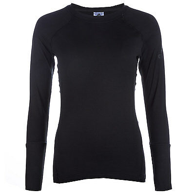 Womens adidas Womens Climaheat Long Sleeve Top in Black - 8-10