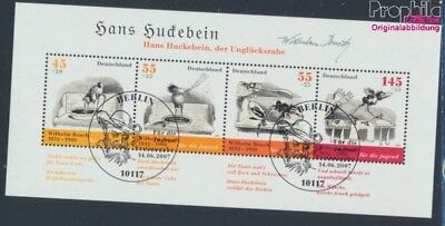 FR of Germany block71 first-day stamp fine used / cancelled 2007 Bush (8721489