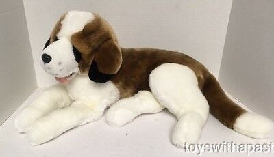 "*Large* Hugfun SAINT BERNARD 22"" Plush Dog Realistic Stuffed Animal Toy St"