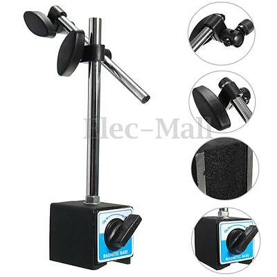Magnetic Base Holder w/ Double Adjustable Pole Switch For Dial Indicator Gauge