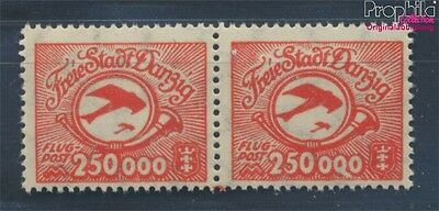 Gdansk 177I, large Fleck to the 0 (Field 94) MNH 1923 Airmail (7783741