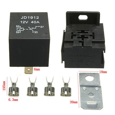 40A AMP 12V 4 Broches Relais Socket Base Terminal ON/OFF Auto Moto Bateau Camion