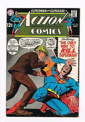 Action Comics # 376 The Only Way to Kill Superman ! grade 4.5 scarce book !!
