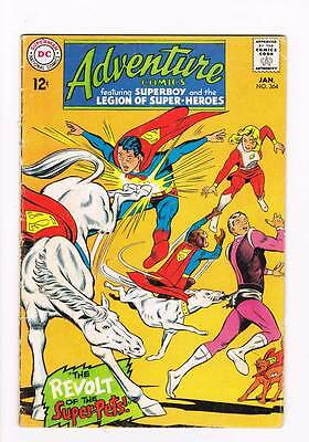 Adventure Comics # 364 Revolt of the Super-Pets ! grade 3.5 scarce book !!