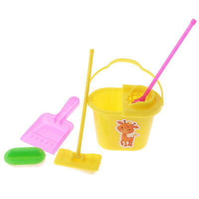 Plastic Clean up Tools Set Doll House Garden Home Accessories 1:12for Barbie