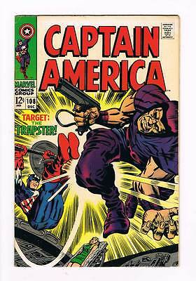 Captain America # 108 The Snare of the Trapster ! grade 7.0 scarce book !!