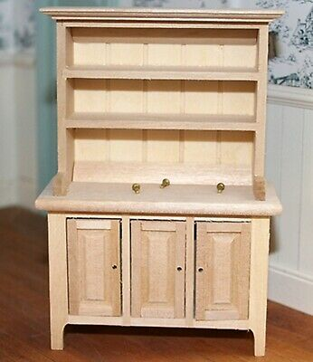 1:12 Scale Natural Finish Dresser Dolls House Kitchen Furniture Accessory K76