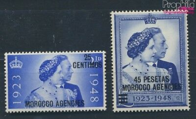 british. Post Morocco 147-148 MNH 1948 Silver Wedding of royal couple (7254984