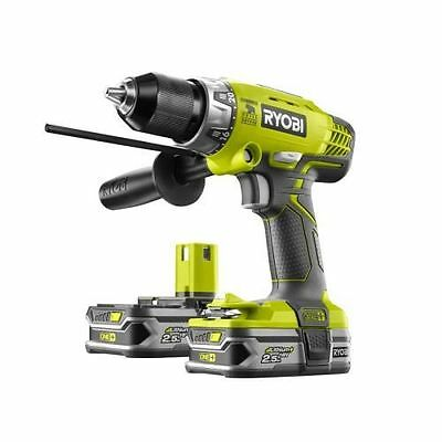 RYOBI - Perceuse à percussion 18 Volts 2x2,5Ah Li Ion R18PD LL25S - NEUF