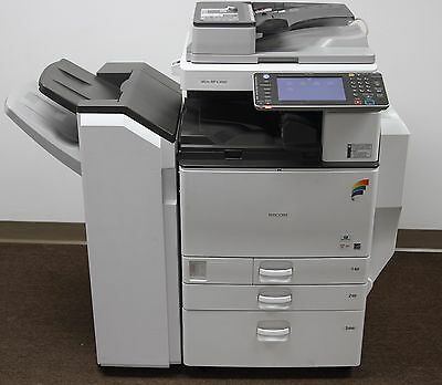Ricoh Aficio MP C3502 Color Copier Printer 373K w/ Finisher SR3100