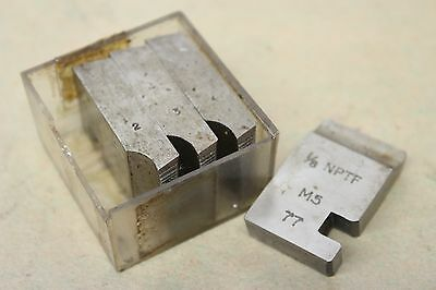 "Alfred Herbert 1/8"" x 27 Tpi NPTF Coventry Die Chasers For 1 1/4"" Head CD315"