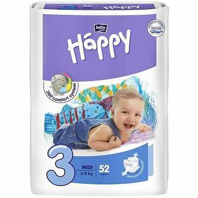 HAPPY 52 Couches Taille 3 de 5 a 9 kg NEUF