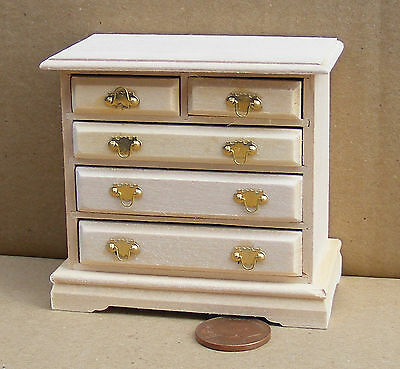 1:12th Scale Chest Of Drawers Dolls House Miniature Bedroom Accessory 128