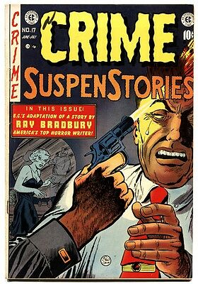 CRIME SUSPENSTORIES #17 1953-EC-Frank Frazetta-Suicide cover