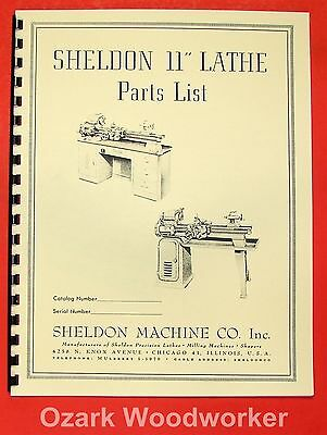 "SHELDON 11"" Metal Lathe Parts Manual 0651"
