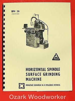 "TOS BPH-20 10"" x 25"" Surface Grinder Operator's & Parts Manual 0722"