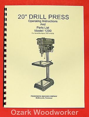 "POWERMATIC 1200 20"" Drill Press Operating & Part Manual 0514"