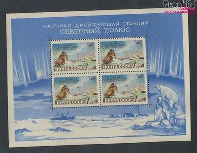 Soviet-Union Block27 MNH 1958 north pole-Station (9027434