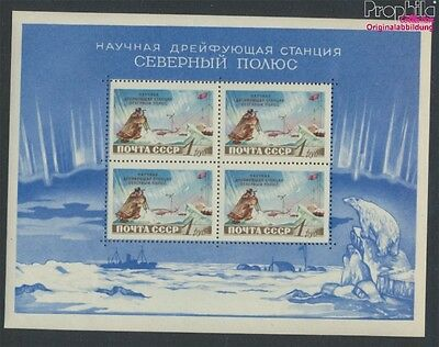 Soviet-Union Block27 MNH 1958 north pole-Station (9027341