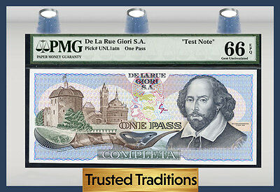 TT PK 4a TEST NOTE DE LARUE SOUTH VIETNAM 1000 DONG OLD MAN AT THE TEMPLE PMG 66