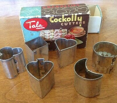 Vintage TALA Cockolly Cutters, Canapés, Petits Fours, Biscuit Cutters, England