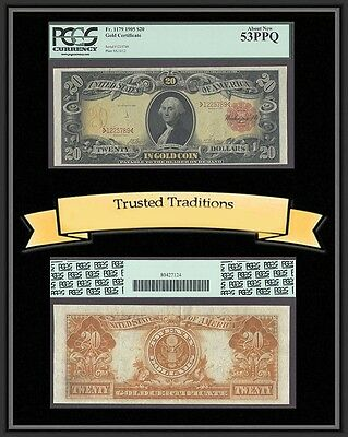 Tt Fr 1179 1905 $20 Gold Certificate Technicolor Pcgs 53 Ppq About New