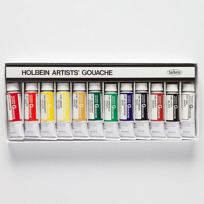 Holbein : Artist Gouache Paint : 15ml : Set of 12