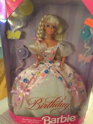NEW Mattel - Birthday Barbie - 1996 Never Removed From Box
