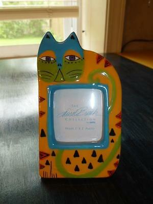 Ganz Laurel Burch Colorful Cat Photo Picture Frame Hand Painted Ceramic