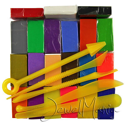 350G to 35KG Soft Oven Bake Polymer Clay Blocks 24 Colour Modelling Moulding Art