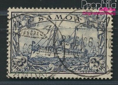 Samoa, German Colony 18 proofed used 1900 Imperial Yacht Hohenzollern (8984462