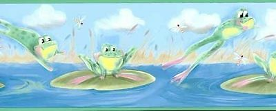 Leap Frogs with Lily Pads Wallpaper Border IT7569B