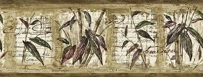 Bamboo & Leaf with Writing Wallpaper Border 80B64169