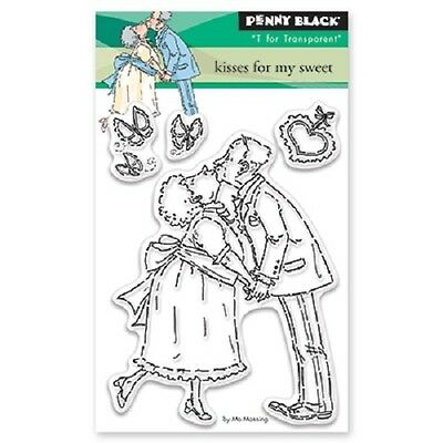 PENNY BLACK RUBBER STAMPS CLEAR KISSES FOR MY SWEET NEW cling STAMP